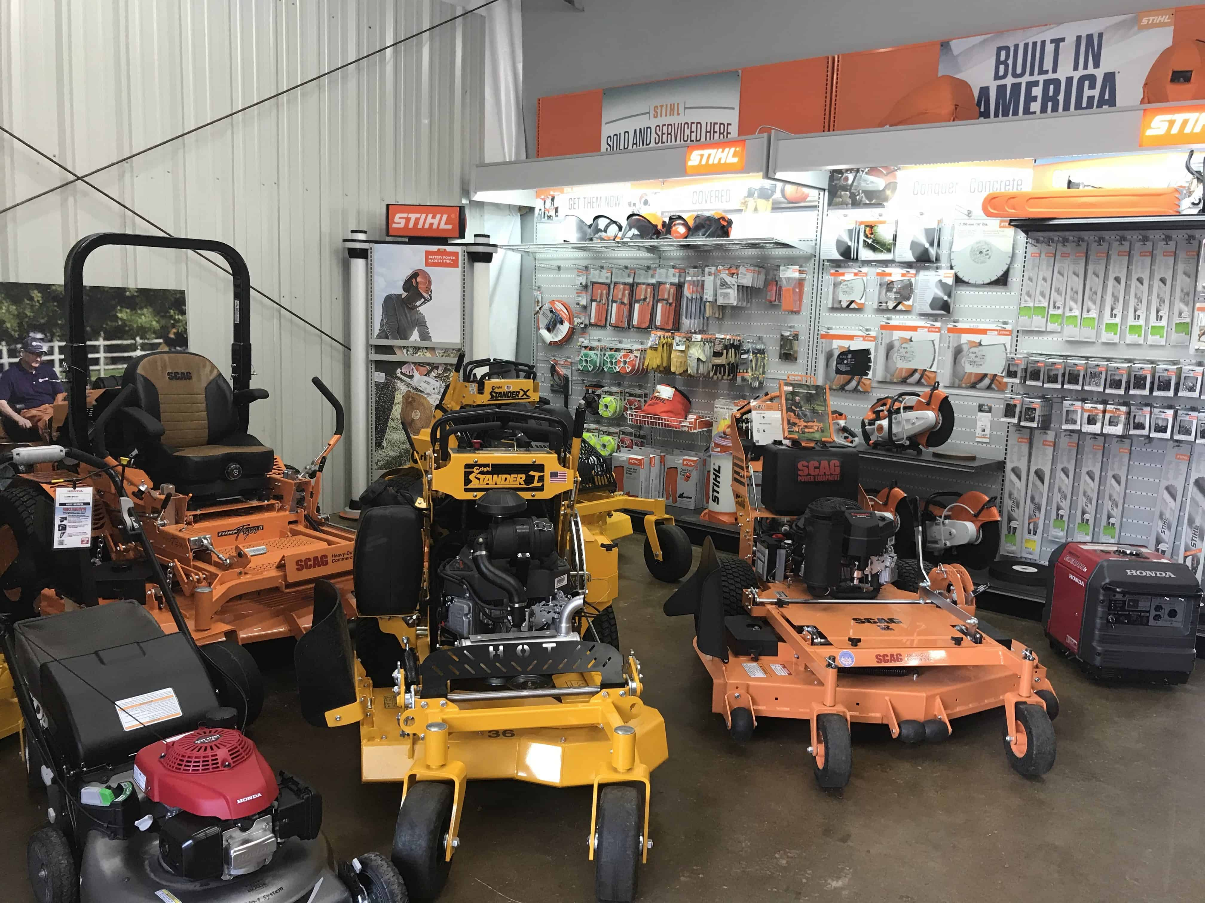 this is a picture of our scag, wright, and walker mowers